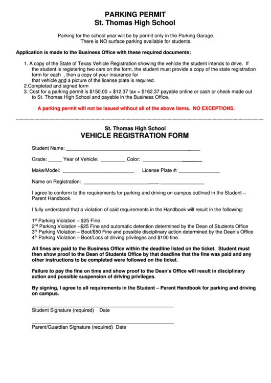 Top 7 Parking Permit Application Form Templates free to download ...