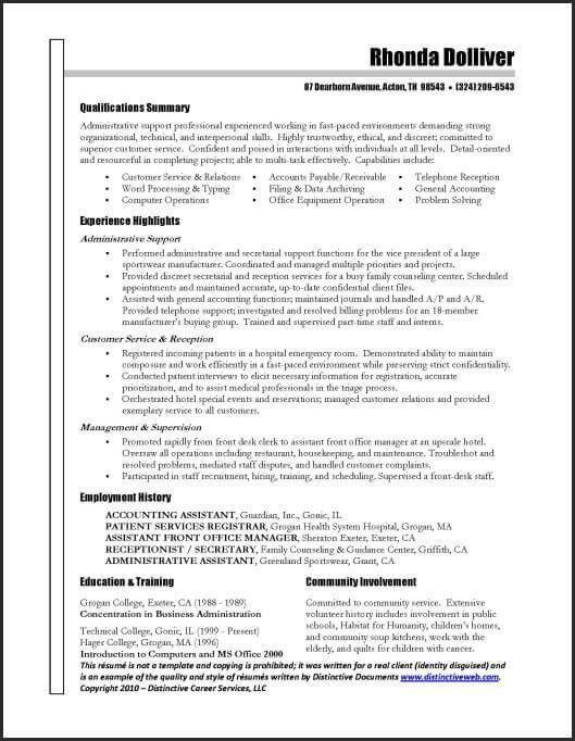 Free Executive Resume Templates. Non Profit Executive-Page1 Free ...
