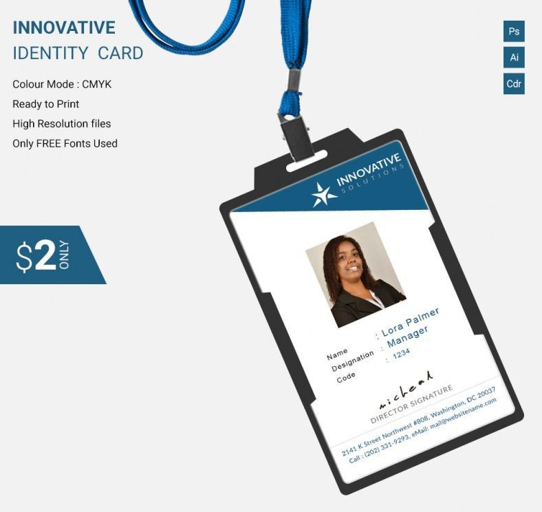 Simple Innovative Identity Card Template | Free & Premium Templates