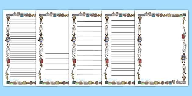 Ancient Romans Page Borders (A4) - Romans, Rome, Roman Empire