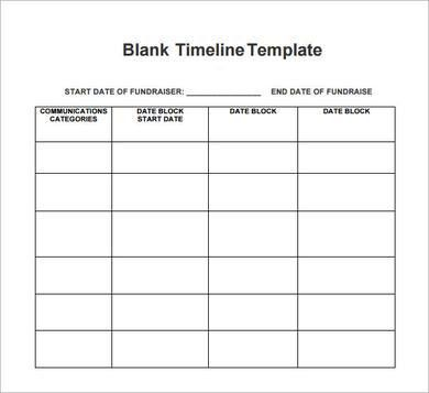 Sample Blank Timeline Template - 4+ Free Documents Download in PDF