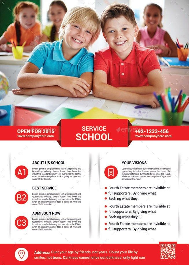School Education Flyer Template by afjamaal   GraphicRiver