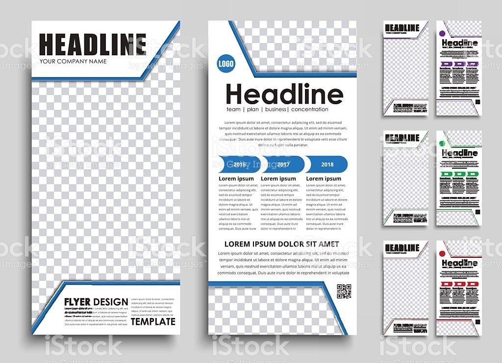 Template Flyer Size Of 210x99 Mm stock vector art 629866710 | iStock