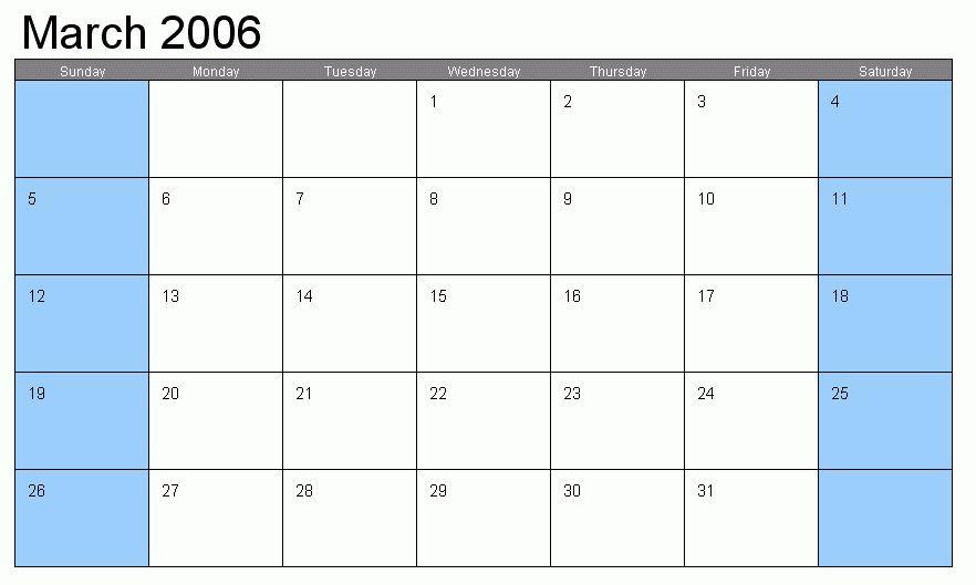 Calendar Template Free.blank Calendar 3.gif - Letter Template Word