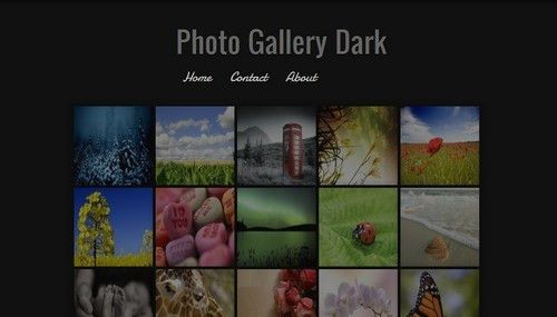 Photo Gallery Dark Blogger template - BTemplates