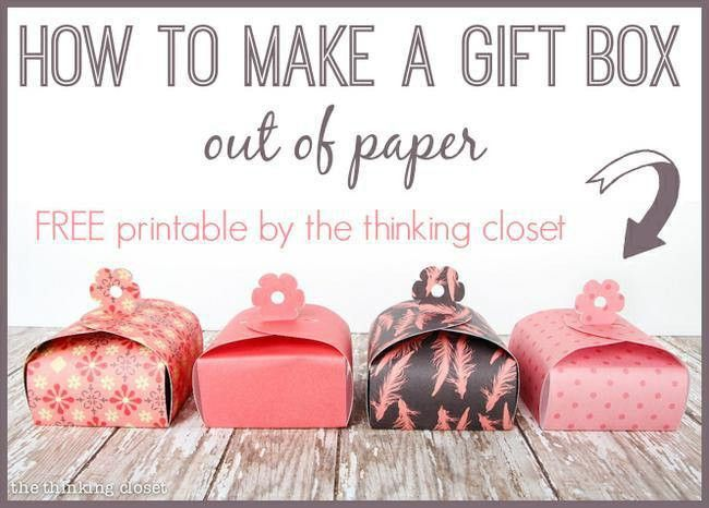 21 Free Printable Gift Box Templates | Tip Junkie