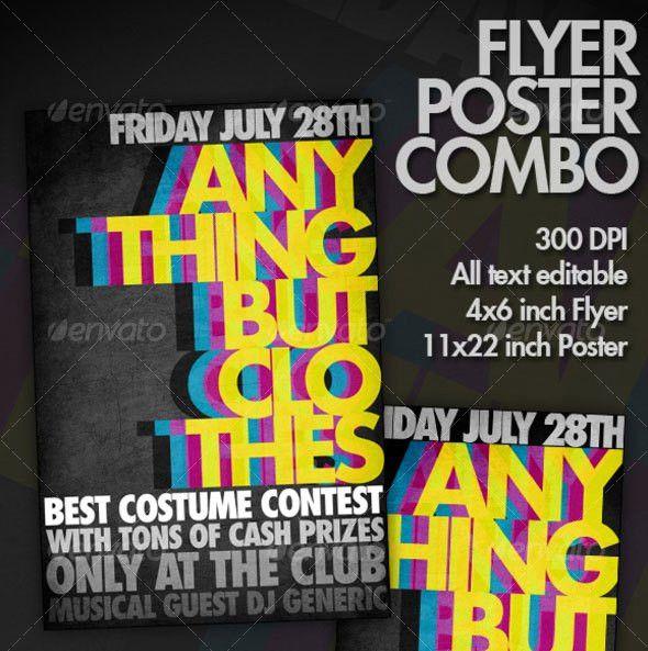 30 Vibrant & Colorful Party Flyer Templates | Web & Graphic Design ...