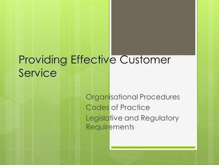 Evaluating customer service delivery1 Summary Slide Evaluating ...
