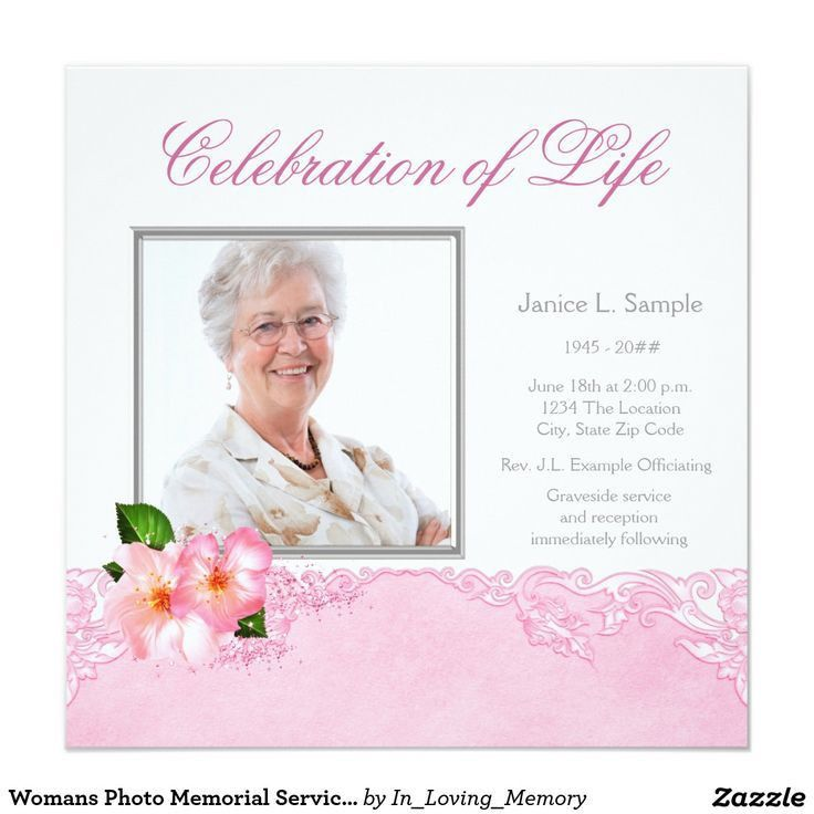 45 best Funeral Invitations Announcements images on Pinterest ...