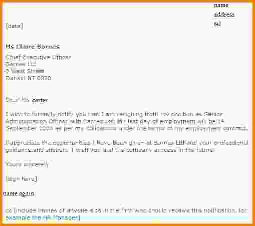How To Write A Resignation Email.formal Resignation Examples.jpg ...