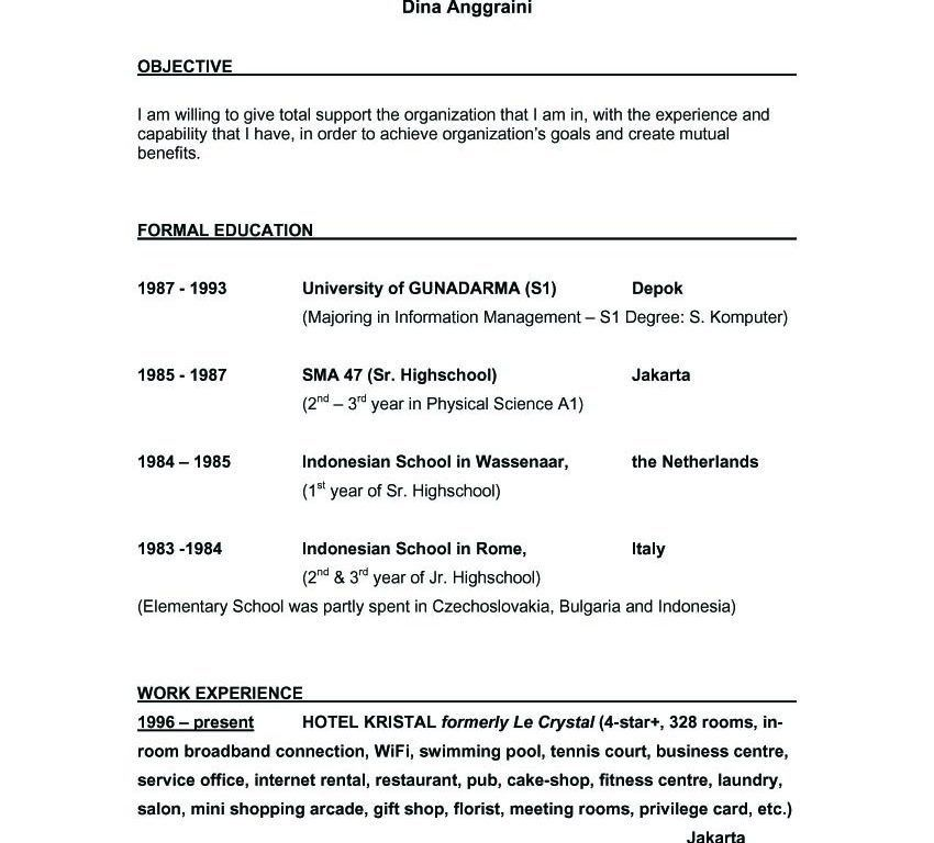 Impressive Ideas What Is A Good Objective For Resume 1 Whats - CV ...