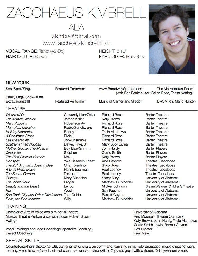 Actors Resume [Template.billybullock.us ]