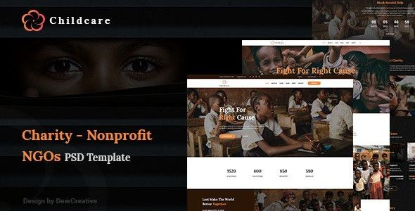 ChildCare | Non-Profit, Charity & Donations PSD Templates by ...