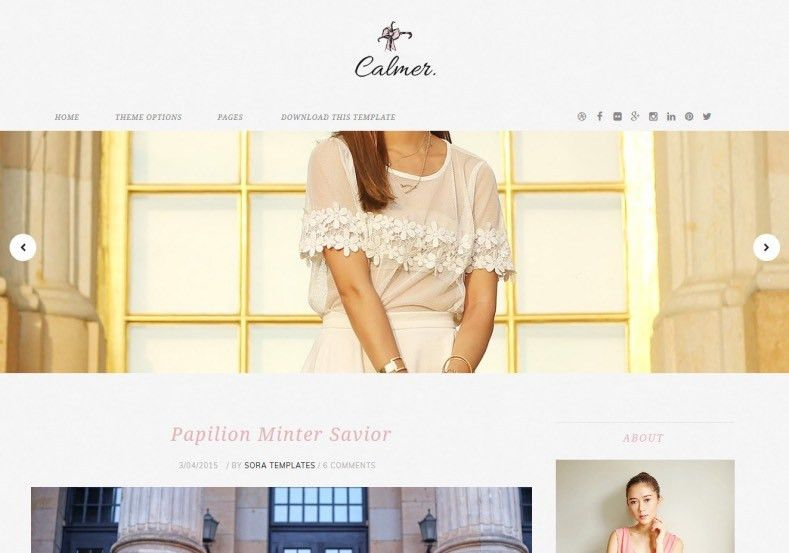 Calmer Fashion Blogger Template • Blogspot Templates 2017