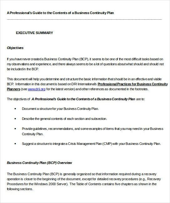 Business Impact Analysis Templates – 8+ Free Word, PDF Format ...