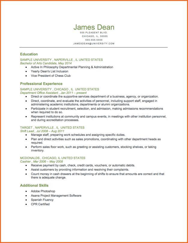 5+ chronological resume format - Budget Template Letter