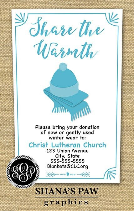 Use this colorful ShanasPaw.com Winter Clothing Drive flyer design ...