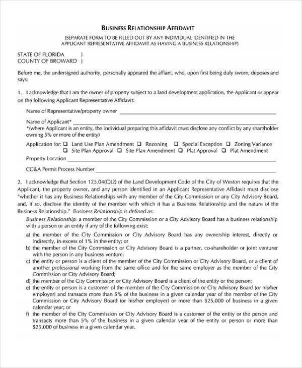 39 General Affidavit Forms in PDF