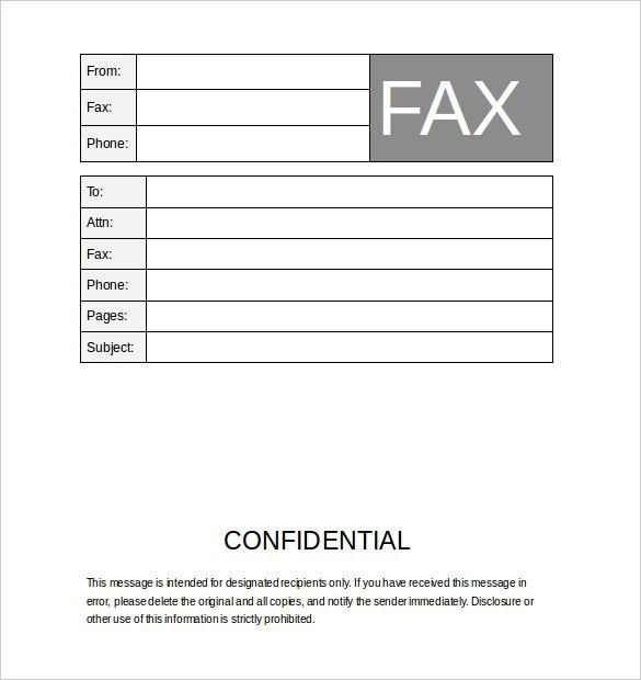 12+ Fax Cover Sheet Templates – Free Word PDF Samples – Template ...