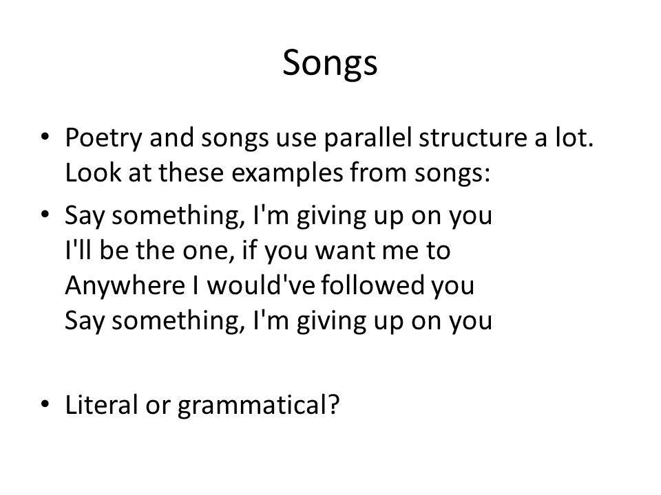 Parallel Structures. - ppt download