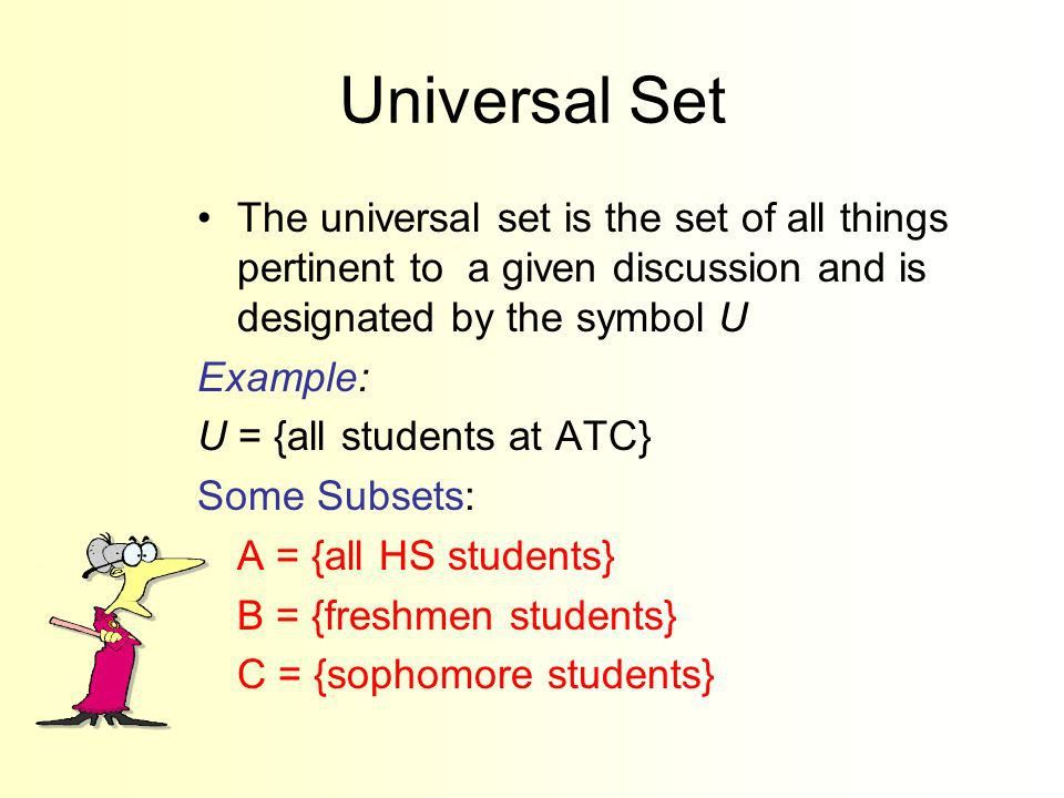 Working WITH Sets Section 3-5. Goals Goal To write sets and ...