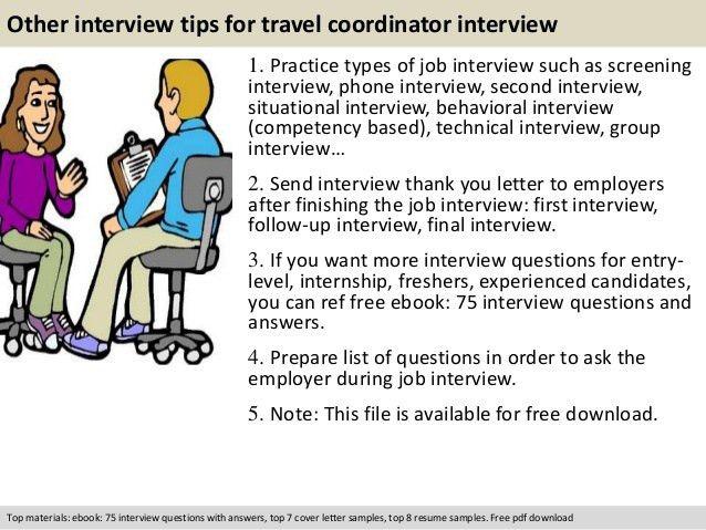 Travel coordinator interview questions