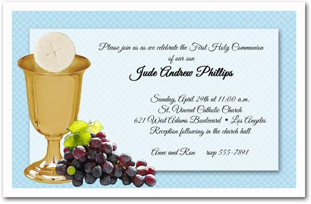 First Communion Invitation Template | Best Template Collection