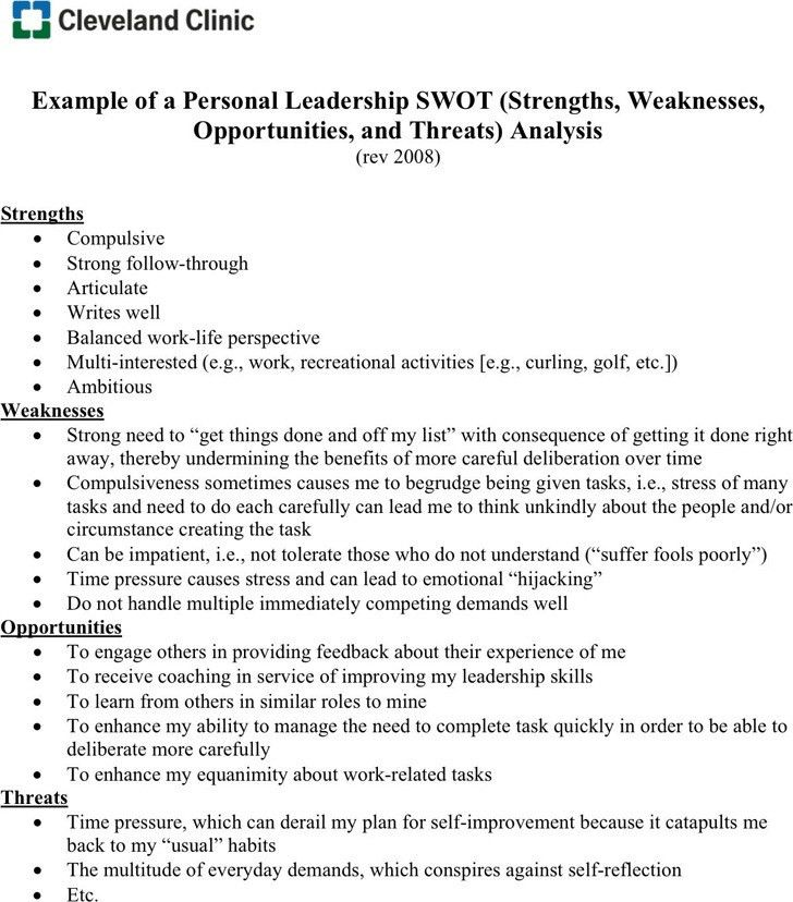 SWOT Analysis Example | Download Free & Premium Templates, Forms ...