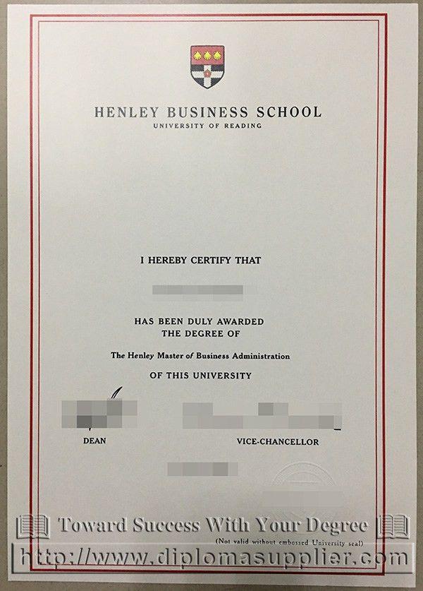 Henley Business School degree, University of Reading degree, fake ...