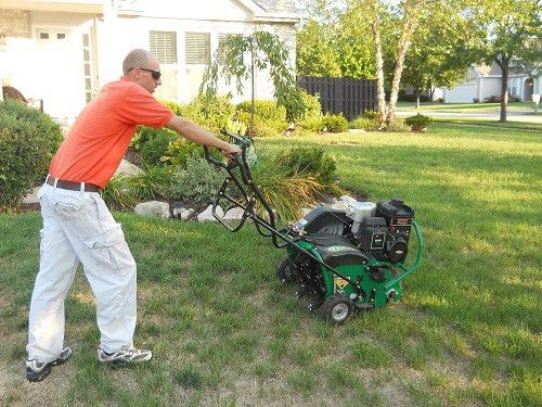 "Core Aeration - Jeremy Biros ""That Weed Guy"" Lawn Care"