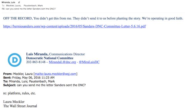 "DNC leaked Sanders letter to press, made ""agreement"" to review ..."