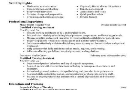 cna resume objective examples cover letter cna resume objective ...