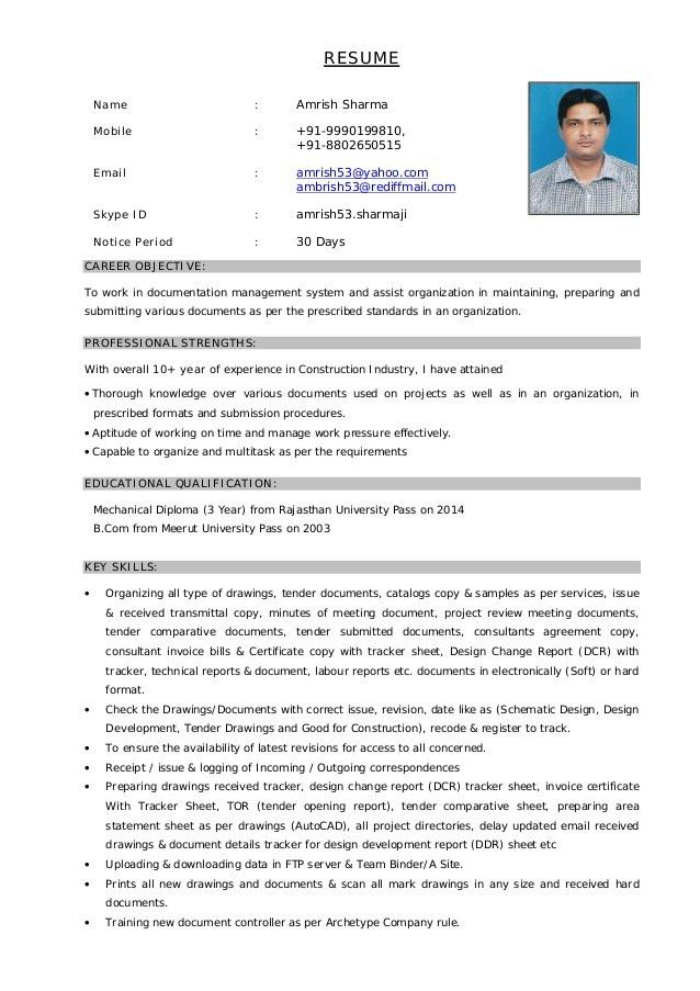 office manager resume 1. document control administrator resume job ...