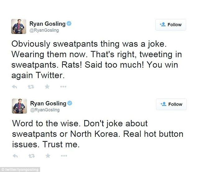 Ryan Gosling jumps to partner Eva Mendes' defence after sweatpants ...