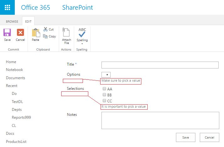"""sharepoint designer - How to place """"Description"""" field in List ..."""