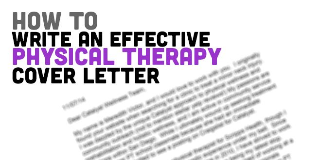 Free Cover Letter for Physical Therapists