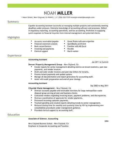 Accounting Resume Template. Best Accounts Receivable Clerk Resume ...