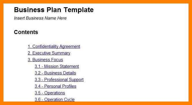 Easy Business Plan Template. creating a simple business plan ...