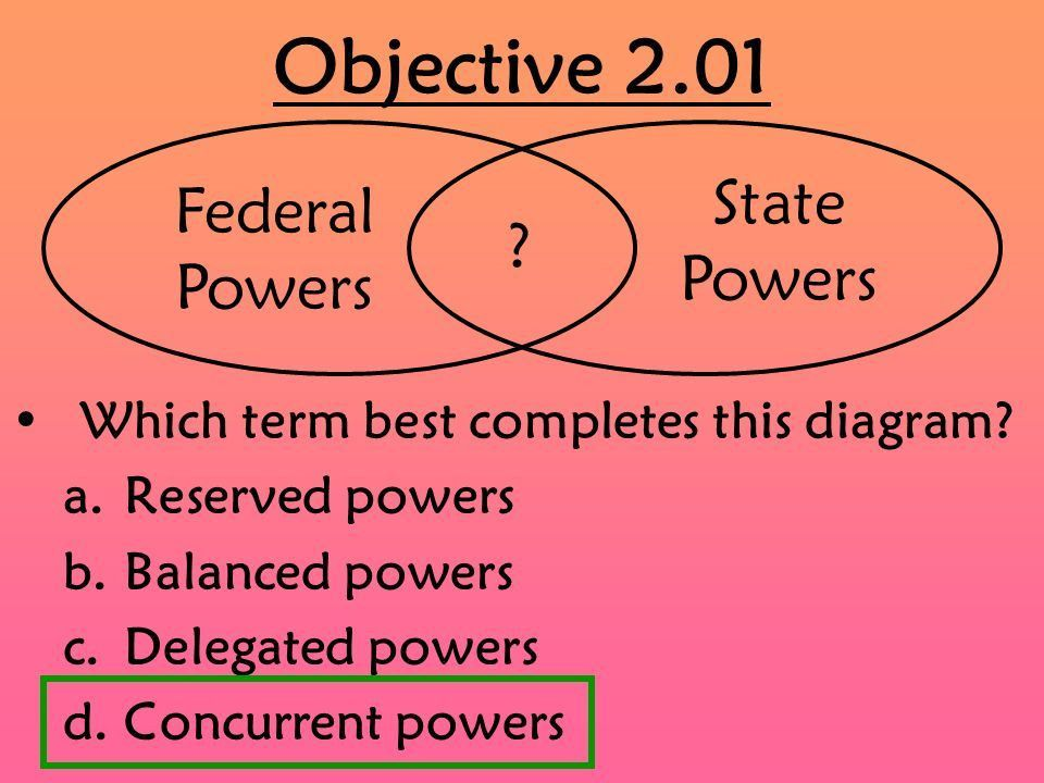 EOC Review Goal 2. Objective 2.01 Which term best completes this ...