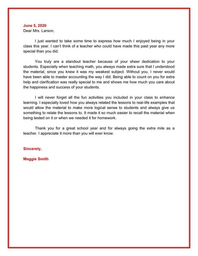 Appreciation Letter - 5 Plus Printable Sample Letters