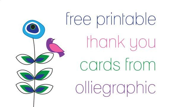 Free Printable Thank You Cards Templates — Anouk Invitations