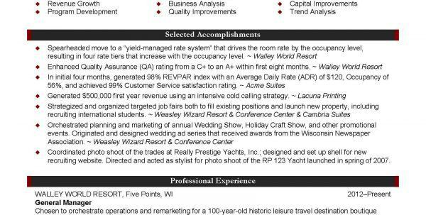 hotel sales manager resume images hotel sales manager resume photo ...