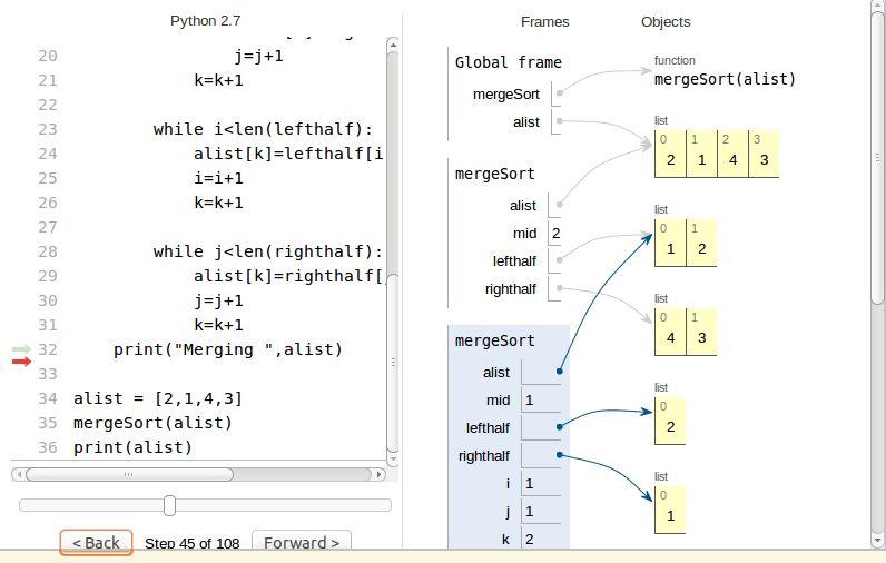 Merge sort, the recursion part - Stack Overflow