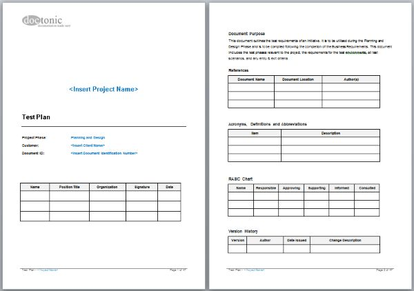 Test Plan Template – Easy Document Creation