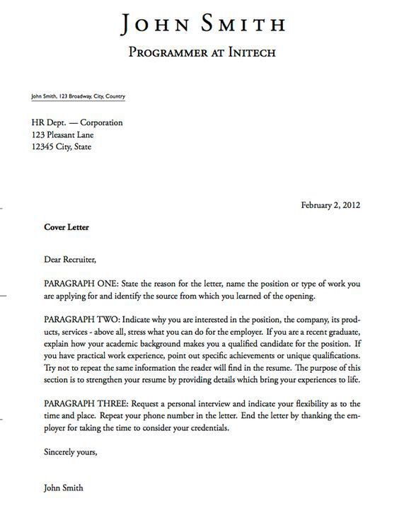 Cover Letter Format Cover Letter Tips Cover Letter Example Cover ...