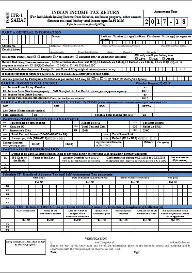 Income Tax Return Forms AY 2017-18 (FY 2016-17) - Which form to ...