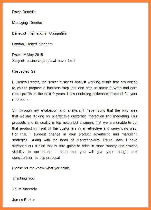 Cover Letter Introduction. Business Proposal Introduction Letter ...