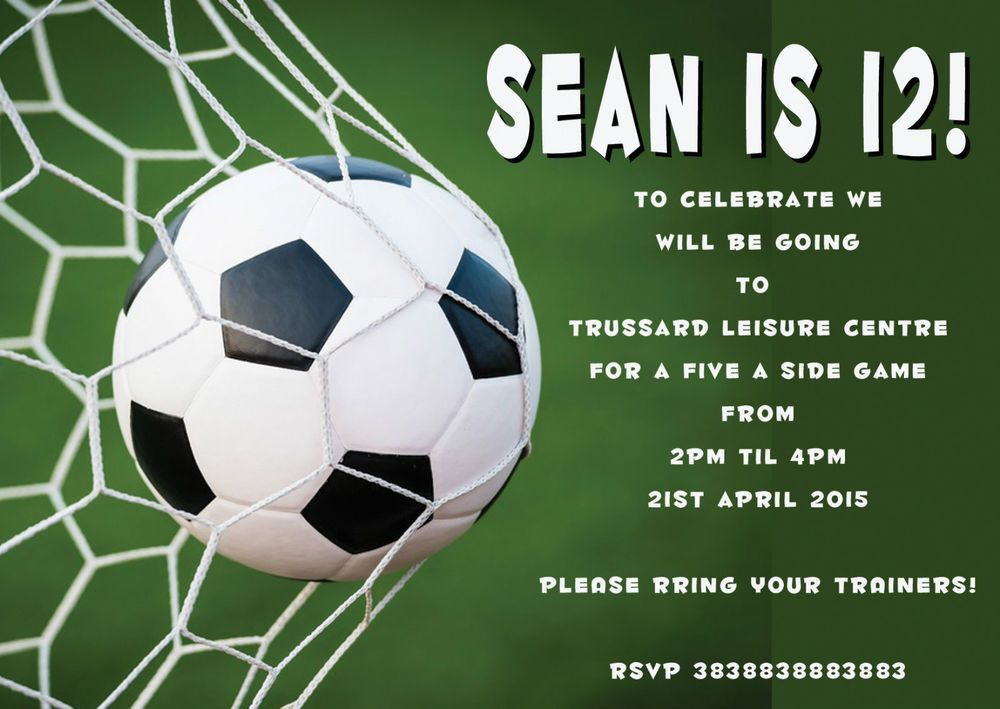 Soccer Birthday Invitations – gangcraft.net