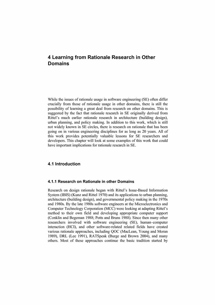 Learning from Rationale Research in Other Domains - Springer