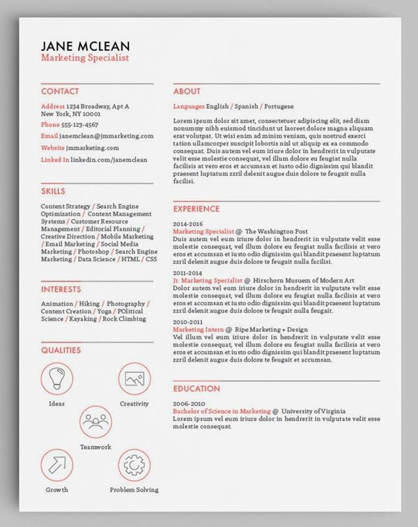 How to Design Unique Resumes with Stock Vectors and Icons ...